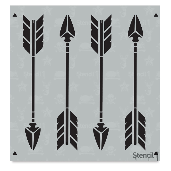Arrow Stencil, Repeat Pattern