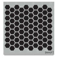 Hexagon Stencil, Repeat Pattern