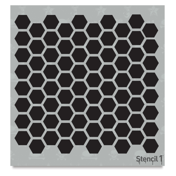Hexagon Stencil, Repeat Pattern