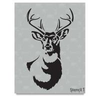 Antlered Deer Stencil