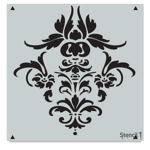 Damask Stencil, Repeat Pattern
