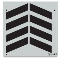 Chevron Stencil, Repeat Pattern