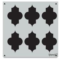 Quartrefoil Stencil, Repeat Pattern