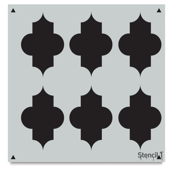 Quartrefoil Stencil, Repeat Pattern