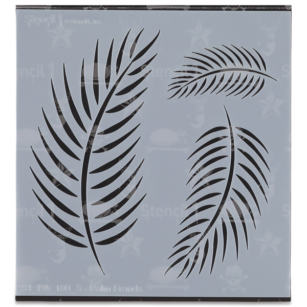 Palm Fronds Stencil, Small