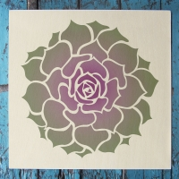 Succulent Hens and Chicks Stencil