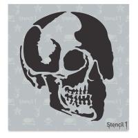 Skull Profile Stencil