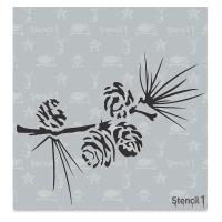 Pine Branch Stencil