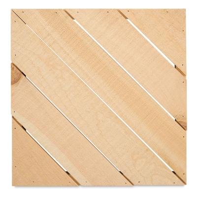 "Rustic Pine Pallet, Diagonal Slats, 12.5"" x 12.5"""