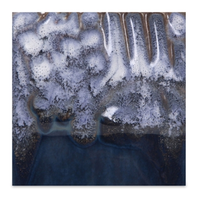 Cascade Glaze, White, Shown over EL118, Blue Grotto
