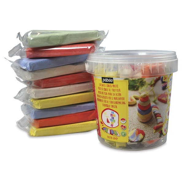 Sidewalk Chalk Clay Pail, Pkg of 10