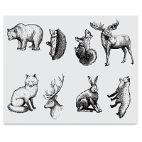 Woodland Animals Silkscreen