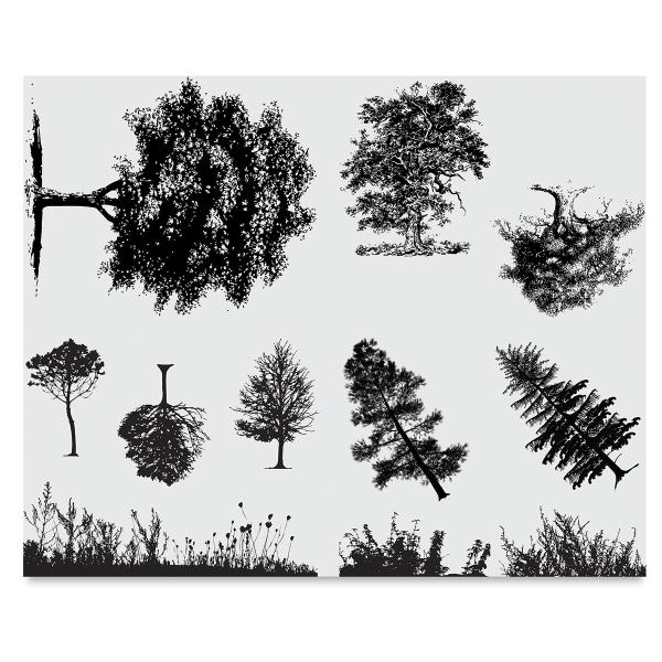 Trees and Grass Silkscreen