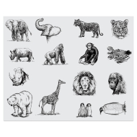 Zoo Animals Silkscreen