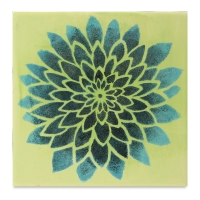 Mayco Designer Stencil, Bloom Stencil Sample Artwork