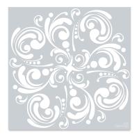 Curlicues Stencil