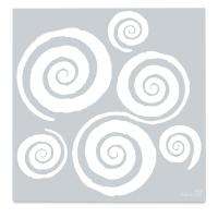 Mayco Designer Stencil, Twirls Stencil