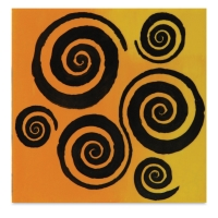 Mayco Designer Stencil, Twirls Stencil Sample Artwork