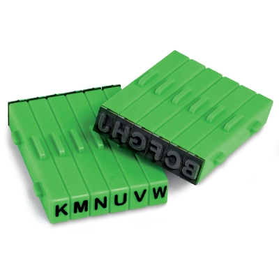 Attachable Stamps, Set of 12, Upper Case Letters