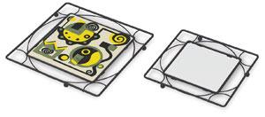 Black Iron Trivet Frame (Shown w/ sample artwork and blank tile, not included)