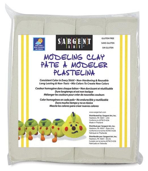 Non-Hardening Modeling Clay, Titanium White, 1 lb
