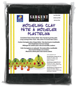 Non-Hardening Modeling Clay, Jet Black, 1 lb