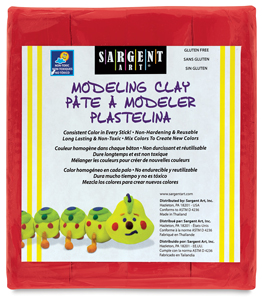 Non-Hardening Modeling Clay, Red, 1 lb