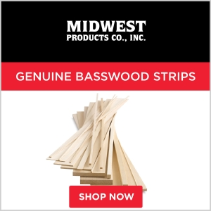 Midwest Products Genuine Basswood Strips