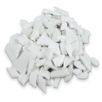 Glass Mosaic Chunks, White