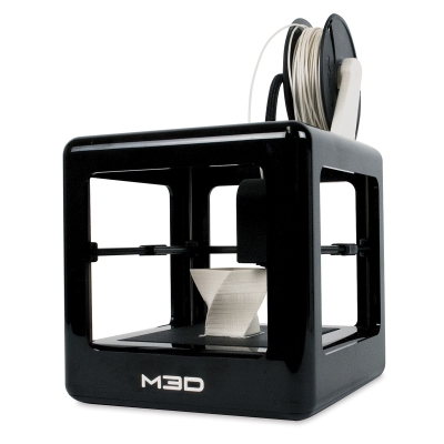 Micro Plus 3D Printer, Black (Shown in use)