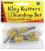 Set of 5 Cutters, Teardrop