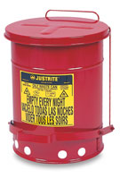 Justrite Oily Materials Waste Cans