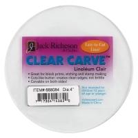 "Clear Carve Linoleum, Round, 4"""