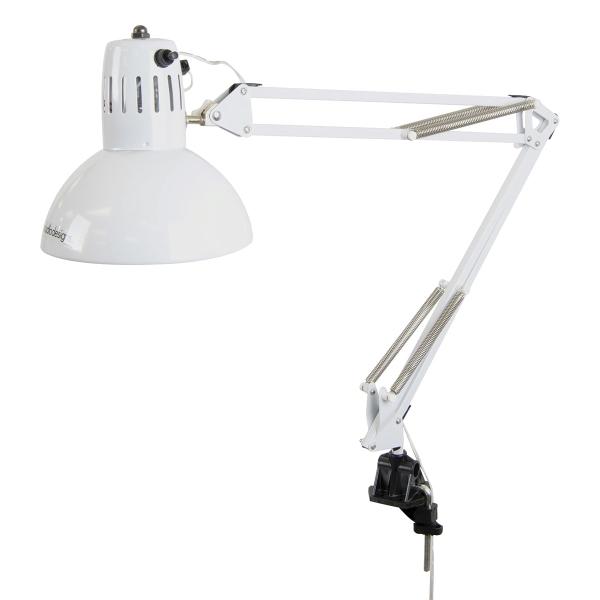 LED Swing Arm Lamp, White