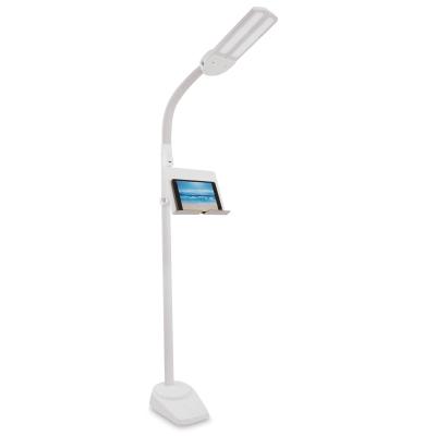 Ottlite Dual Shade Led Floor Lamp With Usb Charging Station Blick