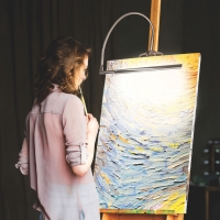 Techne Artist and Drafting Lamp (Shown in use, Easel not included)