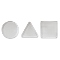 Mini Printing Plates, Set of 3, Circle, Square, Triangle