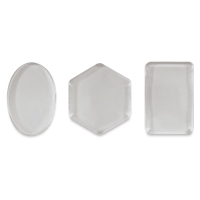Mini Printing Plates, Set of 3, Oval, Rectangle, Hexagon