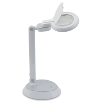 Space-Saving LED Magnifier Desk Lamp