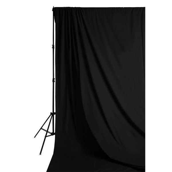 Solid Muslin Backdrop, Black<br>(Stand not included)