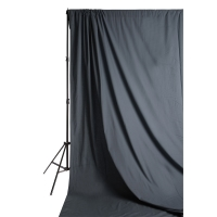 Solid Muslin Backdrop, Solid Gray(Stand not included)