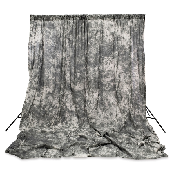 Crushed Muslin Backdrop<br>Gray Skies (Stand not included)