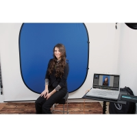 Green Screen Digital Photography Kit (Shown in use, Computer not included)