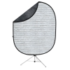 Reversible Collapsible Backdrop Kit(White Brick/Dark Gray)