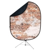 Reversible Collapsible Backdrop Kit(Weathered Brick/Black)