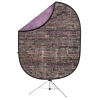 Reversible Collapsible Backdrop Kit(Grunge Brick/Purple)