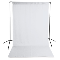 Wrinkle-Resistant Polyester Background, White(Stand not included)