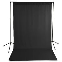 Wrinkle-Resistant Polyester Background, Black(Stand not included)