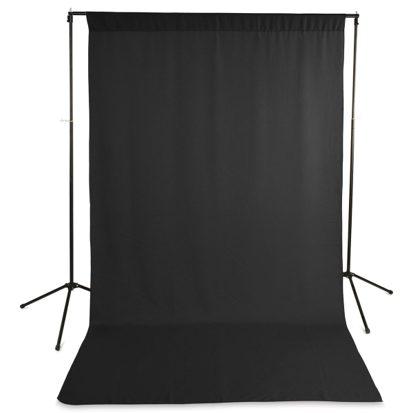 Wrinkle-Resistant Polyester Background, Black<br>(Stand not included)