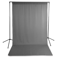 Wrinkle-Resistant Polyester Background, Gray(Stand not included)